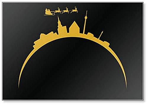 City Skyline Stuttgart in Deutschland zu Weihnachten Kühlschrankmagnet