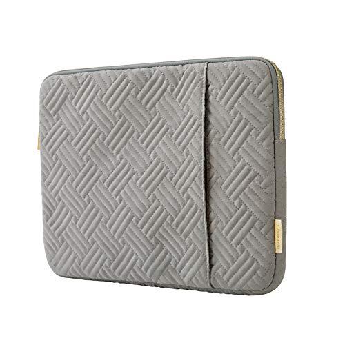 BAGSMART Laptop-Hülle für 33 - 33,8 cm (13 - 13,3 Zoll) Notebooks, wasserabweisend, mit Tasche, Grau