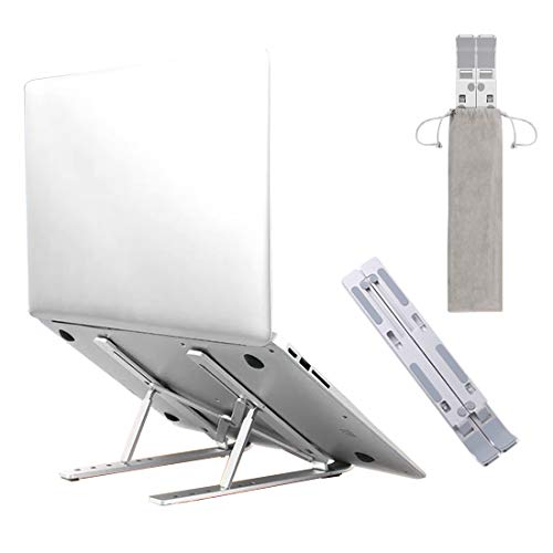 Laptop Stand, Portable Laptop Stands Foldable, Multi-Angle Adjustable Computer Stand, Ergonomic Aluminum Laptop Accessories, Suitable for All Laptops 10-17 Inches, Withstands up to 44 Lbs