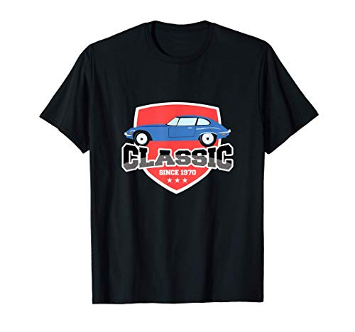 Clsico desde 1970 Diseo de coches antiguos Cumpleaos Camiseta