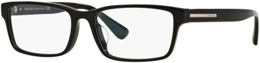 Prada PR01SV - 1AB1O1 Eyeglass Frame BLACK w/ Clear Demo Lens 56mm