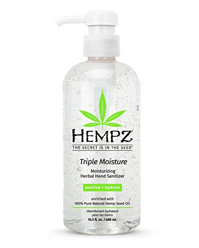 Hempz Triple Moisture Herbal Moisturizing Hand Sanitizer,...