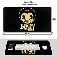 Bendy 超大型 ゲーミング マウスパッド キーボードパッド 3D柄プリント ゲーミングマウスパッド 疲労低減 オフィス デスクマット マウスパッド 耐久性が良い 滑り止めゴム底 防水 水で洗えるマウスパッド