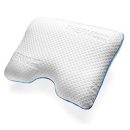 sofi Almohada Cervical viscoelástica   Almohada ergonómica Lateral Individual   Almohada ortopédica para Dormir de Lado con Memory Foam   Funda termorreguladora   51 x 56 x 12 cm