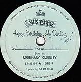 Happy Birthday, My Darling Gibson Musicards  7', 78 RPM
