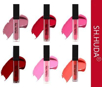 SH. HUDA Forever Matte Me Liquid Beauty Lipstick Set Of 6 (Multicolor, 36 ml)