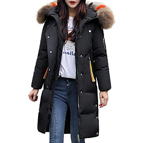 SOMESUN Damen Warme Lange Winterjacke Winter Modisch Plüsch Mantel Mit Kapuze Wildleder Winddicht Draussen Baumwolle Winterjacke Verdicken Wintermantel