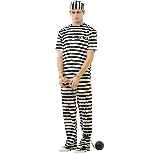 Classic Crook Adult Men's Halloween Dress Up Theme Party Cosplay Costume (X-Large), Black, X-Large