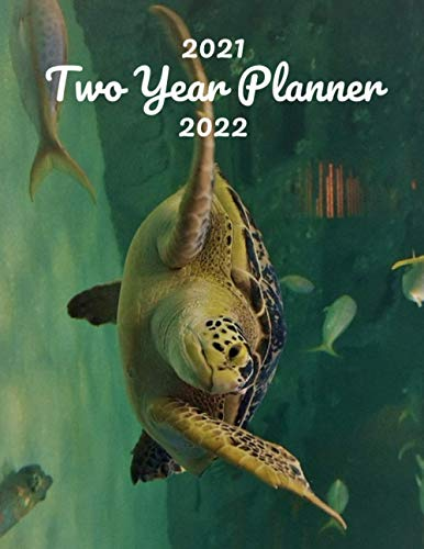2021-2022 Two Year Planner: Sea Turtle 24 Month Calendar Weekly Monthly Schedule Organizer Yearly Planner 2021-2022 2 Year Planner Notebook Aquarium ... tuna tilapia salmon Octopus Water creature