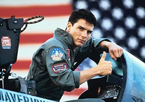 Top Gun Poster Print, Wall Art, Artwork, Movie Posters for Wall, Game Room Poster, Canvas Art, No Frame Poster, Original Art Poster Gift SIZE 24''x32'' (61x81 cm)