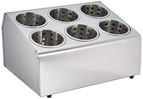 Lacor 33126 - Soporte cubiertos, 6 orificios con vasos
