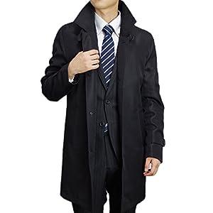 (ブルーム) BLOOM ビジネスコート ふんわりと軽い 極上タッチコート 大きいサイズ メンズ スタンドカラー ブラック 5L
