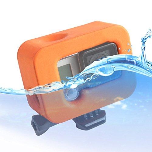MadridGadgetStore® Flotador Boya Naranja Carcasa Funda Flotante Floaty para Cámara Go Pro GoPro Hero4 Hero3+ Hero3 Hero 4 3+ 3 Deportes de Agua Mar Kitesurf Paddle Surf Kayak Windsurf Wakeboard Buceo