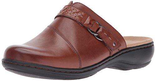Clarks Women's Leisa Sadie Mule, Dark Tan Leather, 6 M US