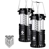 Bestseller No. 4 – Etekcity Pack of 2 Portable LED Camping Lantern Flashlights