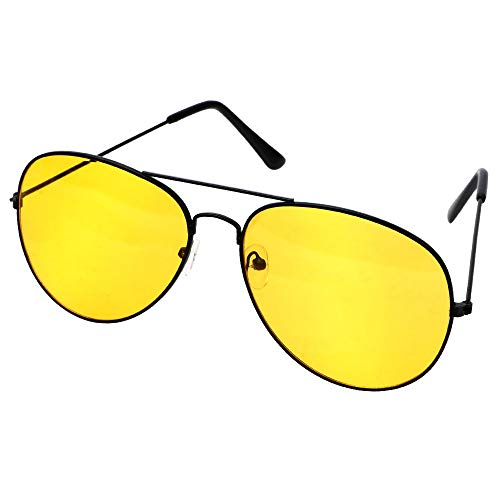 FUZHISI Gafas de Sol Lentes antideslumbrantes Gafas de Sol de aleación de Cobre Conductores de automóviles Gafas de visión Nocturna Gafas de conducción polarizadas Accesorios para automóviles, Negro