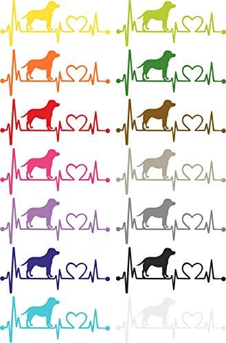 Herzlinien Aufkleber Labrador