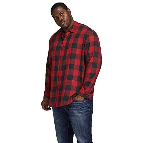 Jack & Jones JJEGINGHAM Twill Shirt L/S PS Noos Chemise, Rouge Brique, 6XL Homme