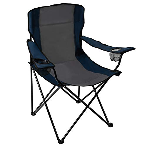 Pacific Pass Quad Chair for Camping and Fishing with Two Cup Holders, Carry Bag Included, Supports...