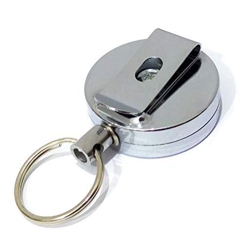 Intrekbare sleutelhanger JoJo sleutelhouder met stalen touwsleutelring anti verloren ID-kaart JoJo lanyard met 60 cm scheurvast snoer