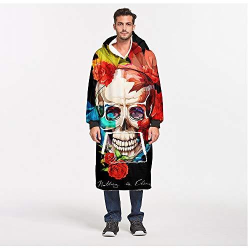 FUFU Mantas y mantitas Manta de gran tamaño suéter con capucha for hombres, mujeres y niños, Manta Fleece Pullover Sherpa bolsillo canguro con capucha gigante con el bolsillo delantero adicional for e