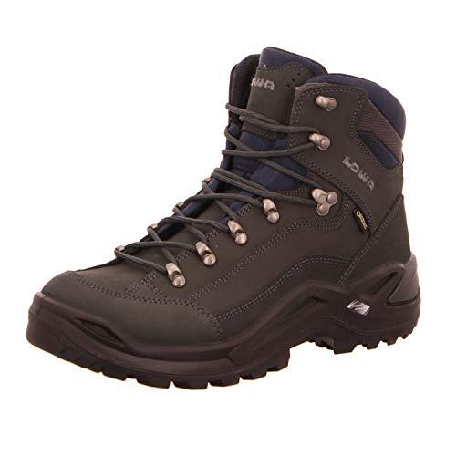Lowa Men's RENEGADE GTX MID High Rise Hiking Boots, Grau (Grigio Scuro 0954), 8 UK/42 EU