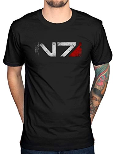 Mass Effect N7 T-Shirt Xbox Playstation Game Console Video Series Cod Men