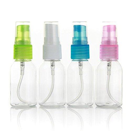TININNA 30ml Blanc Transparent Flacon Vaporisateur Spray Vide Bouteille Pompe en Plastique pr Eau de Toilette 4 PCS