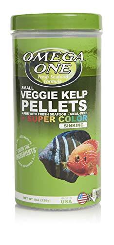 Omega One Super Color Veggie Kelp 2mm Sinking Pellets, 8 oz Container