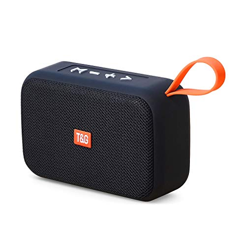 Bluetooth Lautsprecher 5.0, Mini Wireless Tragbarer Lautsprecher,TWS 360° Stereo Sound Intensiver Bass Außen Lautsprecher,Kabelloser Lautsprecher Unterstützung für USB/TF/Aux/Micro SD Karte/FM Radio