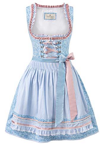 Stockerpoint Damen Dirndl ESMA Kleid für besondere Anlässe, hellblau, 44