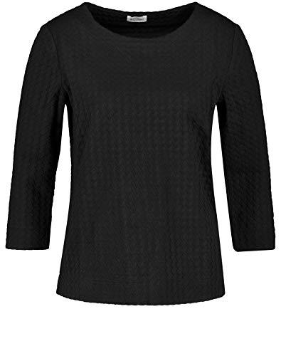 Gerry Weber Damen Sweatshirt mit Jacquardoptik figurumspielend Schwarz 36