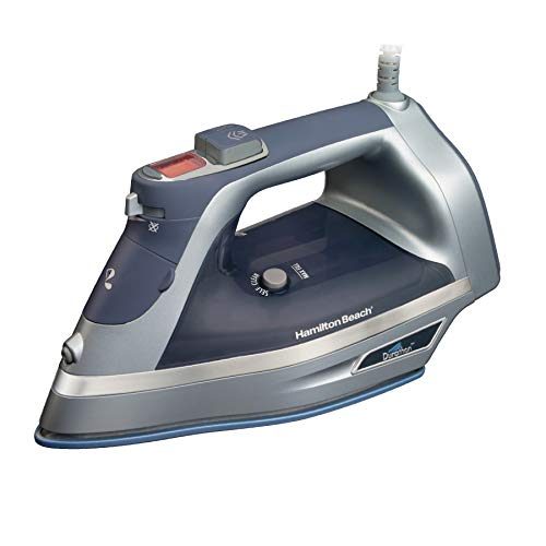 Hamilton Beach Steam Iron with 3-Way Auto Shutoff & Durathon Soleplate, Grey (19900)