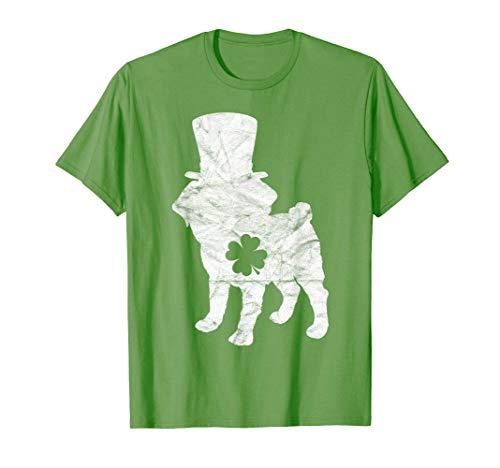 Retro Frenchie Hat Gift French Bulldog Dog St Patrick's Day T-Shirt