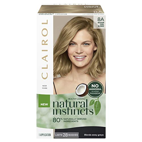 Clairol Natural Instincts Semi-Permanant Hair Colour, 8a Medium Cool Blonde, 1 count