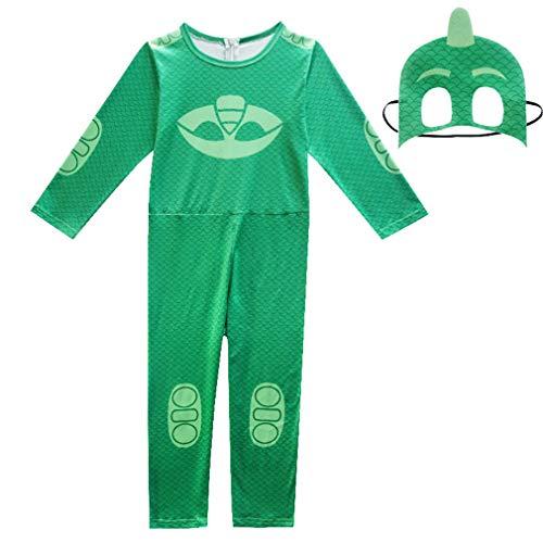 wetry kinderkostüm Catboy Halloween-Cospaly-Verkleidung-Maskierter Superheld-Faschingskostüm-Grün/110