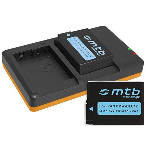 2 Akkus + Dual-Ladegerät (USB) kompatibel mit Panasonic DMW-BLC12 / Lumix DMC-G5, G6, G70, G81, G91, GH2, GX8, FZ2000. / Sigma dp0/1/2/3 Quattro - s. Liste (inkl. Micro-USB-Kabel)
