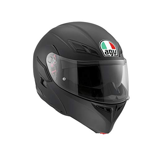 AGV Herren Compact St Agv E2205 Solid Plk Motorrad Helm, schwarz, M EU