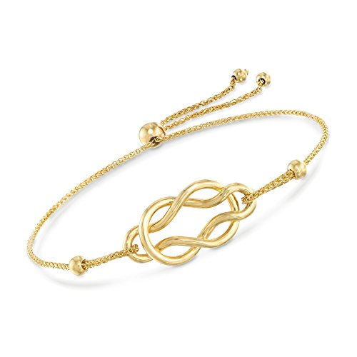 Ross-Simons 14kt Yellow Gold Celtic Knot Infinity Bolo Bracelet