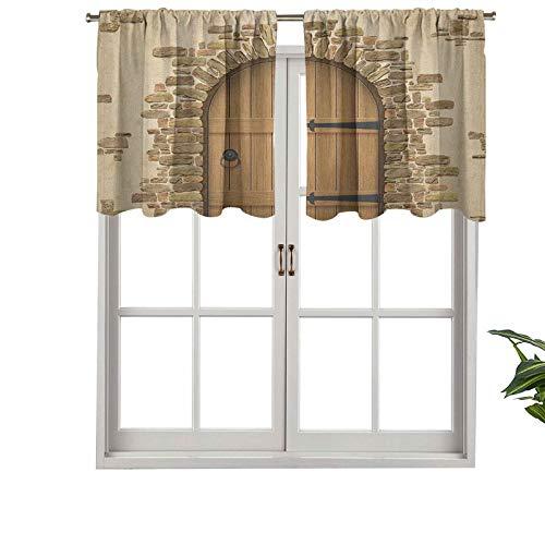 Hiiiman Cenefa de alta calidad con bolsillo para barra de vino, entrada de arquitectura europea, conjunto de 1, 91,4 x 45,7 cm para decoración de interiores