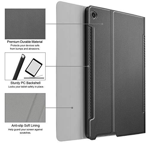 Fintie Huawei Mediapad M5 10.8/10.8 Pro QWERTZ Bluetooth Tastatur Hülle - Ständer Schutzhülle mit Magnetisch Abnehmbarer Drahtloser Deutscher Bluetooth Tastatur für Huawei M5 10,8 Zoll, Grau - 5