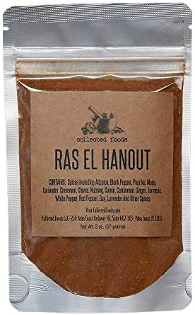 Gourmet Ras El Hanout Moroccan Spice Blend Authentic Moroccan Seasoning by Collected Foods product image