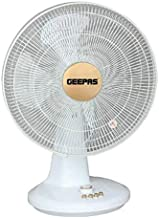 Geepas 16-Inch Table Fan | 3 Speed Settings with Oscillating/Rotating and Static Feature | Electric Portable Desktop Cooli...