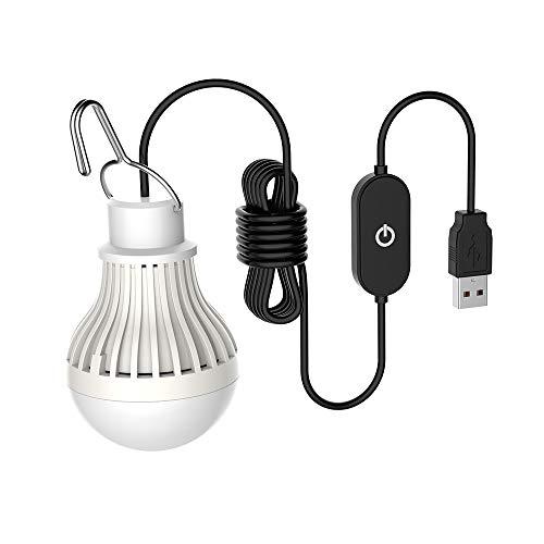 Dimmbar 5W Tragbare USB LED Campinglampe Zeltlampe Ideal für Wandern Fischen Camping, Angeln,Notlicht und Andere Outdoor-Aktivitäten Warmweiß