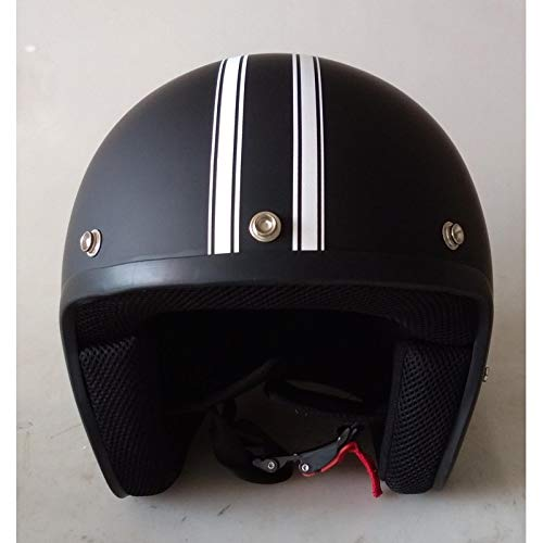 DataPrice Awen Casco Moto Abierto Homologado de Mujer y Hombre para Motocicleta, Ciclomotor y Scooter, Bicicleta ECE. Adhesivos y Llavero de REGALO. Modelos variados. (M, Awen Classic Custom)