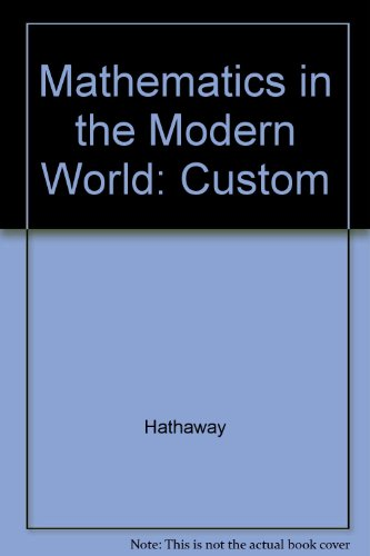 Mathematics in the Modern World: Custom