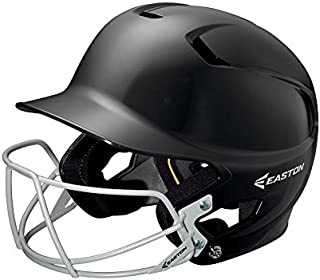 EASTON Z5 Junior Batting Helmet with Baseball Softball Mask   2019   Unisex   Dual Density Shock Absorption Foam   High Impact Resistant ABS Shell   Moisture Wicking BioDRI liner