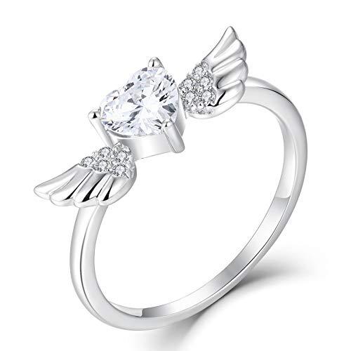 starchenie Angel Wings Heart Ring f…