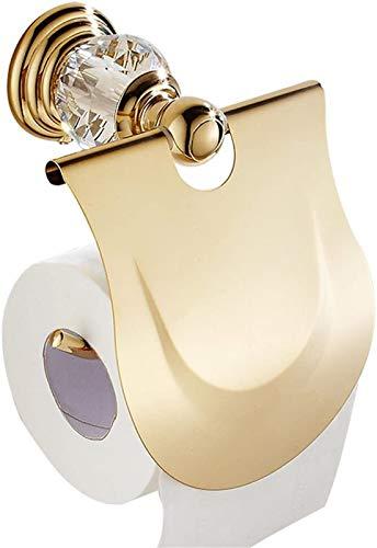 FHK Papel de Oro Toalla Toalla Baño Hardware Colgante Estilo Europeo Estante Estante Papel Toalla Caja Antigua Papel Holder Holder Baño Soporte de Papel higiénico