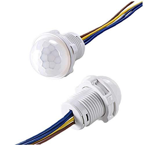 Bulbos De Lámparas, 110v 220v Interruptor Mini Armario Pir Sensor De Luz De Detección Del Sensor Del Interruptor Del Sensor Del Detector Pir Led Inteligente De Movimiento Infrarrojos Automático